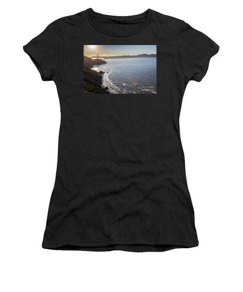 Mid Morning View Of The Downtown San Franscisco Over The Golden  Women's T-Shirt