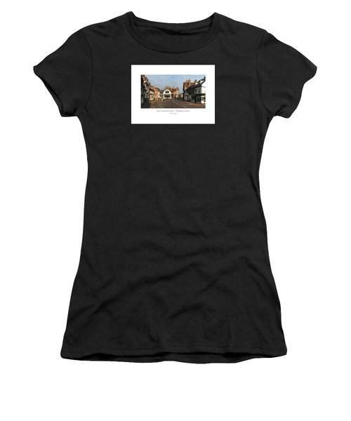 Women's T-Shirt featuring the digital art Middle Row East Grinstead by Julian Perry