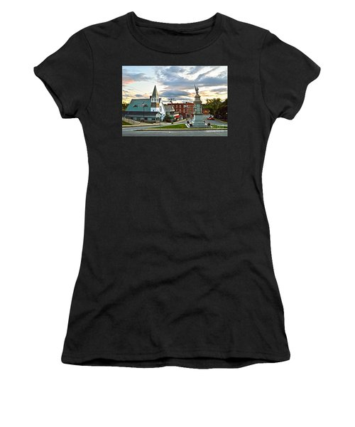 Middlebury Vermont At Sunset Women's T-Shirt (Junior Cut) by Catherine Sherman