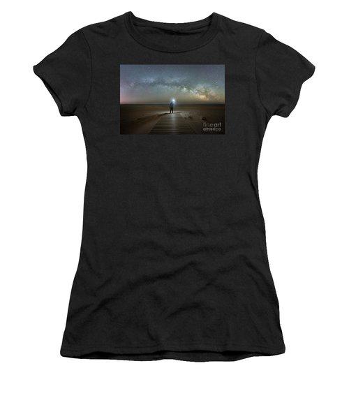 Midnight Explorer At Assateague Island Women's T-Shirt
