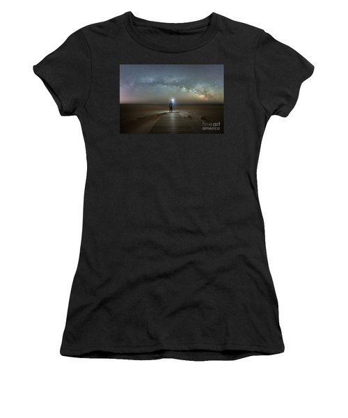 Midnight Explorer At Assateague Island Women's T-Shirt (Athletic Fit)