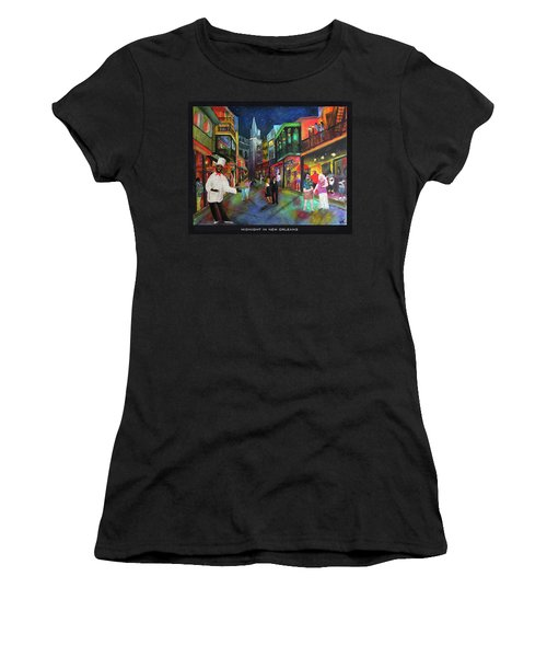 Midnight In New Orleans Women's T-Shirt (Athletic Fit)