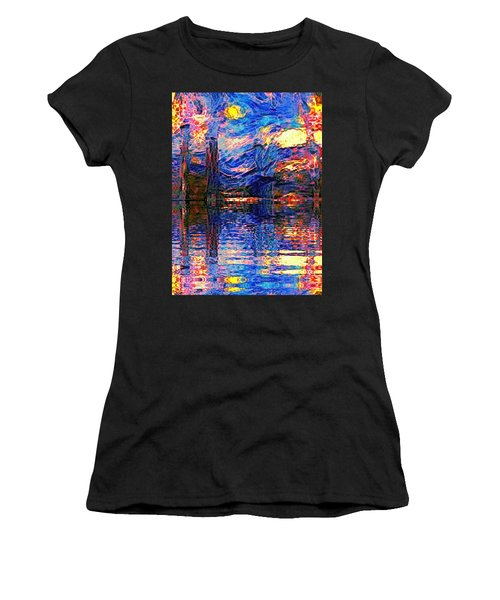 Midnight Oasis Women's T-Shirt (Athletic Fit)