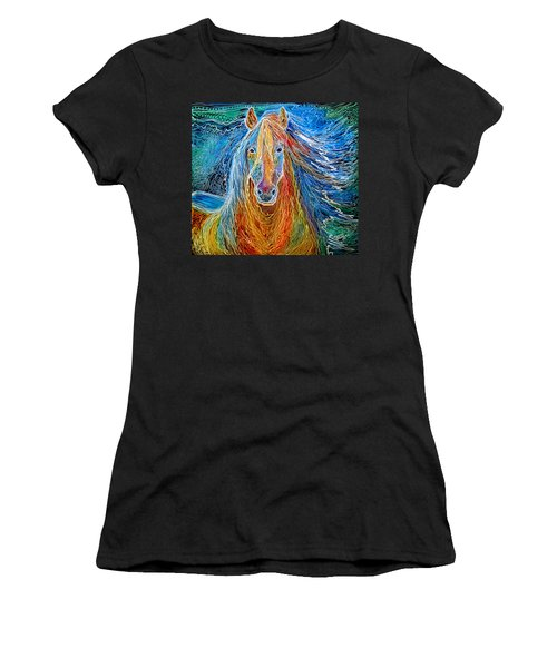 Midnightsun Equine Batik Women's T-Shirt (Athletic Fit)