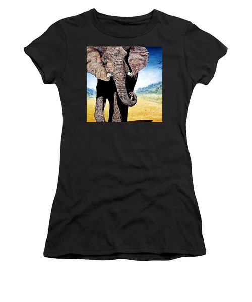 Mighty Elephant Women's T-Shirt (Athletic Fit)