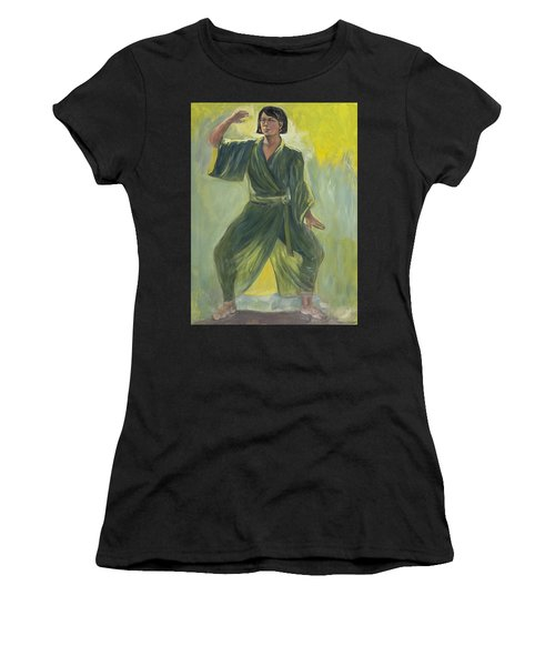 Mighty Woman Kick-butt Women's T-Shirt (Athletic Fit)