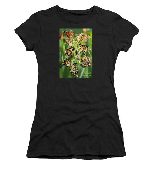 Migration Of Monarchs Women's T-Shirt (Athletic Fit)