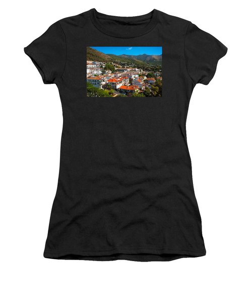 Women's T-Shirt (Junior Cut) featuring the photograph Mijas Village In Spain by Jenny Rainbow