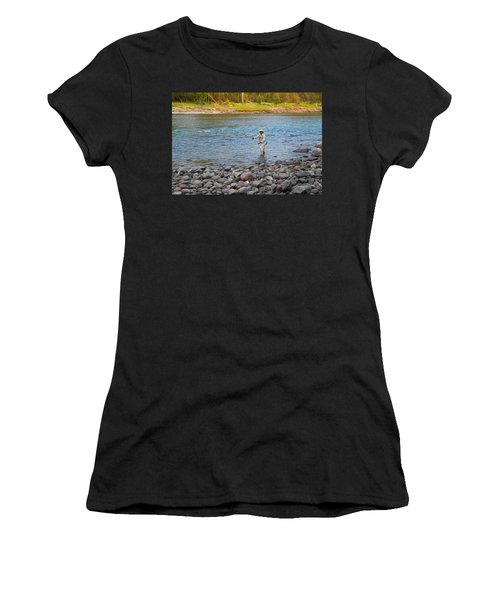 Mike's River-1 Women's T-Shirt (Athletic Fit)