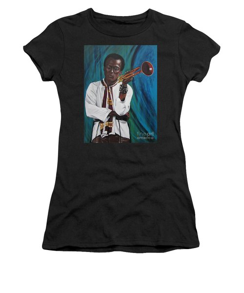 Blaa Kattproduksjoner     Miles-in A Really Cool White Shirt Women's T-Shirt (Athletic Fit)