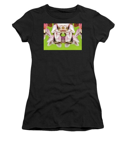 Milkweed Mirror Image Pareidolia Women's T-Shirt (Athletic Fit)