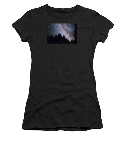 Milky Way Above The Bighorns Women's T-Shirt (Athletic Fit)