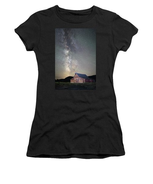 Milky Way And Barn Women's T-Shirt