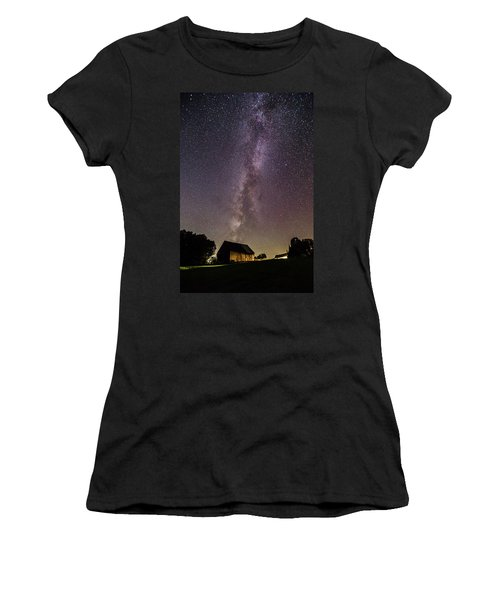 Milky Way And Barn Women's T-Shirt (Athletic Fit)
