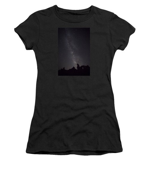 Milky Way Galaxy At Arches National Park Women's T-Shirt