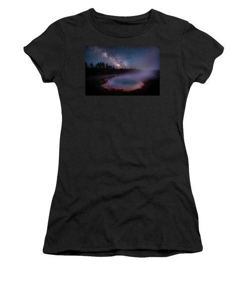 Milky Way In Yellowstone Women's T-Shirt