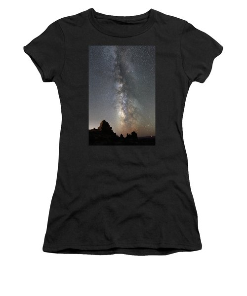 Milky Way Over Arches Np  One Women's T-Shirt