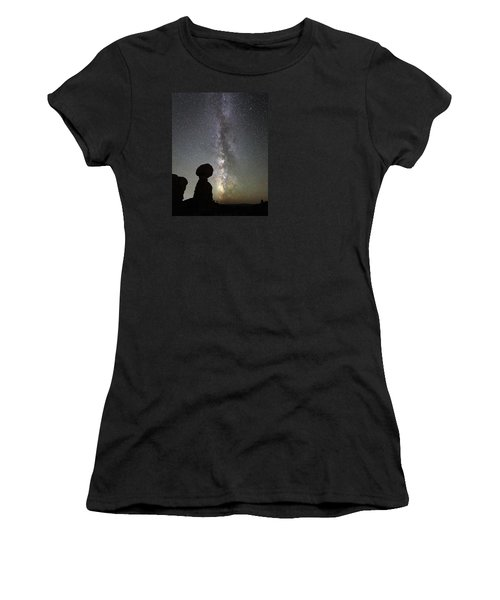Milky Way Over Arches Np Three Women's T-Shirt