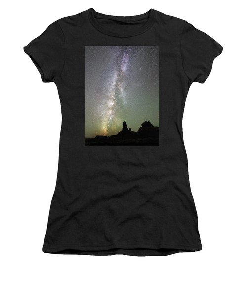 Milky Way Over Arches Np Four Women's T-Shirt