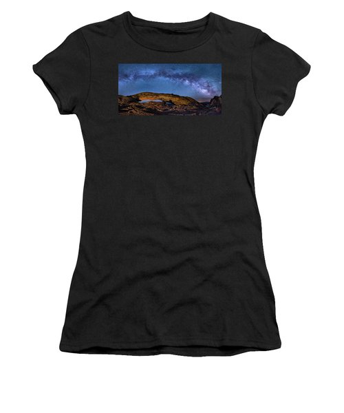 Milky Way Over Mesa Arch Women's T-Shirt