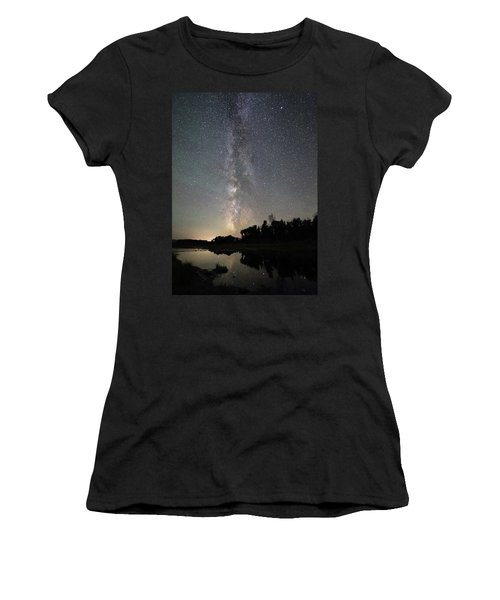 Milky Way Over Schwabacher's Landing Women's T-Shirt
