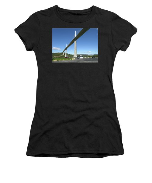 Women's T-Shirt featuring the photograph Millau Viaduct by Jim Mathis