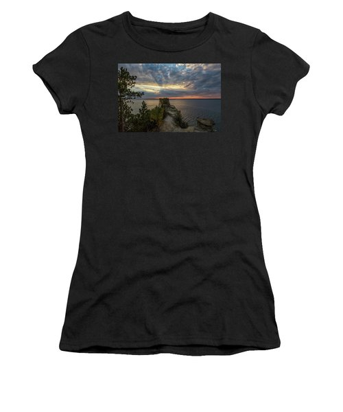 Women's T-Shirt featuring the photograph Miners Castle 4 by Heather Kenward