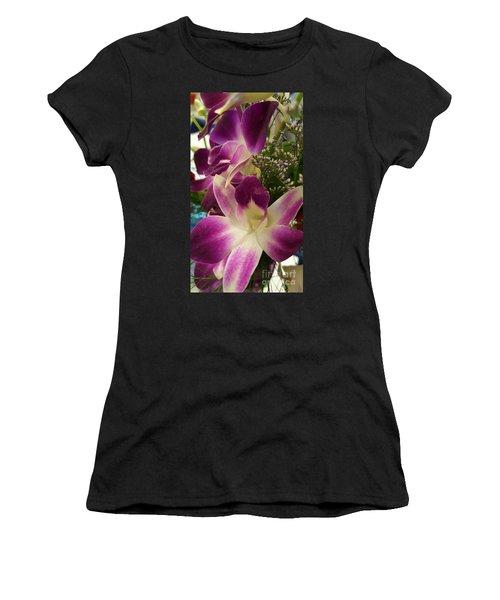 Mini Orchids  Women's T-Shirt (Athletic Fit)