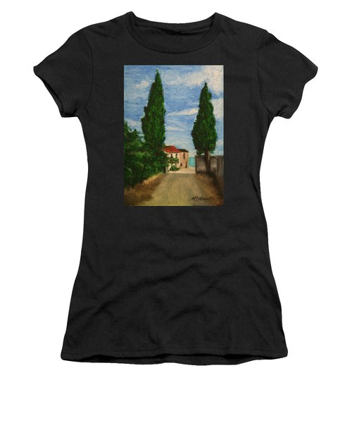 Women's T-Shirt (Junior Cut) featuring the painting Mini Painting, Portugal by Marna Edwards Flavell