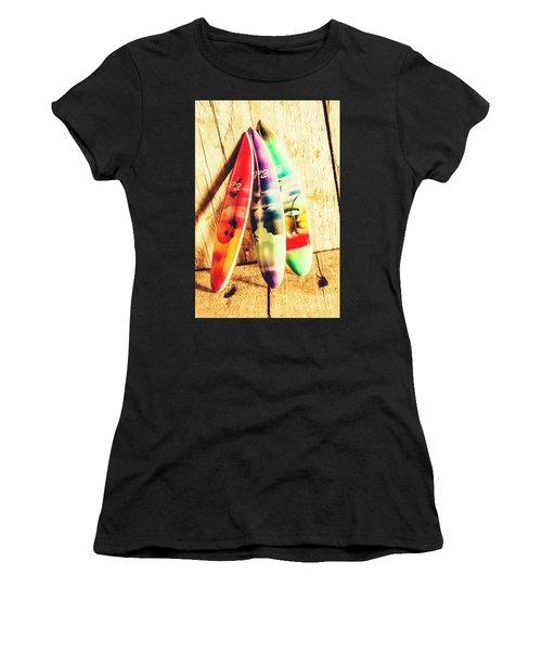 Miniature Surfboard Decorations Women's T-Shirt