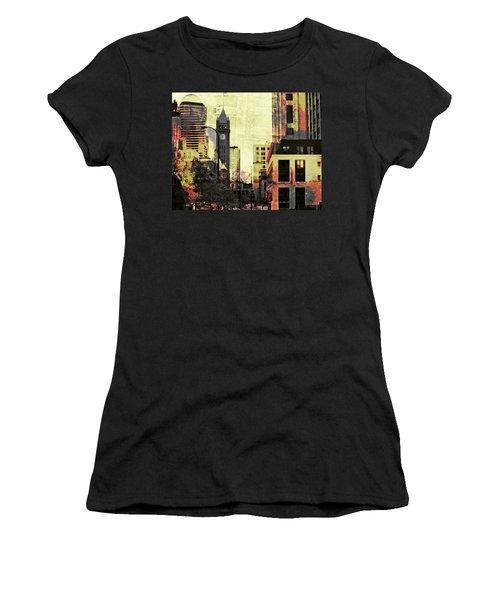Minneapolis Clock Tower Women's T-Shirt (Athletic Fit)