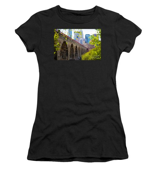 Minneapolis Stone Arch Bridge Photography Seminar Women's T-Shirt (Athletic Fit)