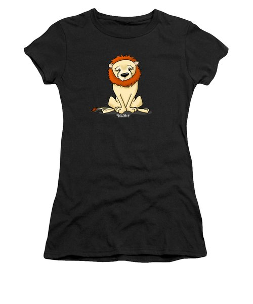 Lion Peaceful Reflection  Women's T-Shirt (Athletic Fit)