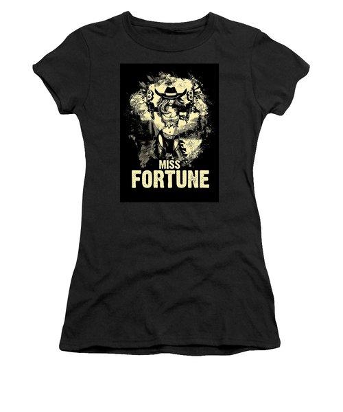 Miss Fortune - Vintage Comic Line Art Style Women's T-Shirt