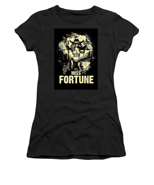 Miss Fortune - Vintage Comic Line Art Style Women's T-Shirt (Athletic Fit)
