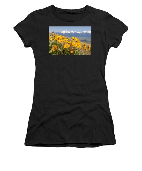 Mission Mountain Balsam Blooms Women's T-Shirt (Athletic Fit)
