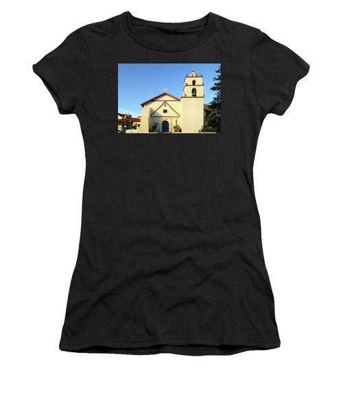 Mission San Buenaventura, Ventura, California Women's T-Shirt (Athletic Fit)