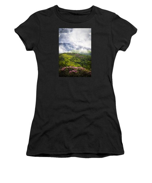 Rhododendrons - Roan Mountain Women's T-Shirt (Athletic Fit)
