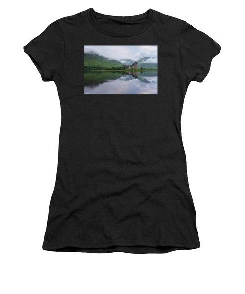 Mist Swarms Around Kilchurn Castle Women's T-Shirt