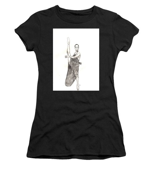 Misty Ballerina Dancer  Women's T-Shirt (Athletic Fit)
