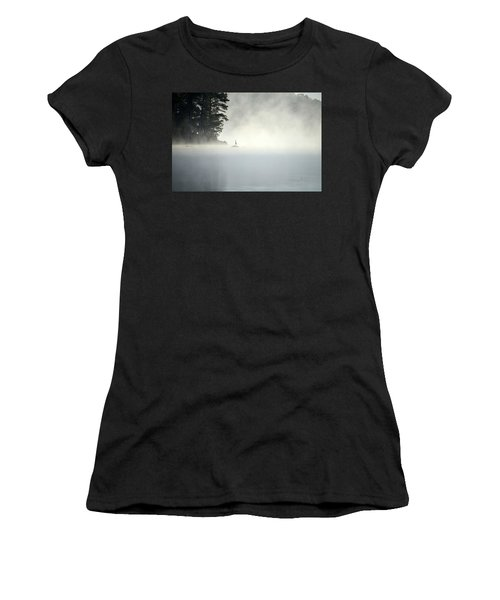 Misty Heron Women's T-Shirt (Athletic Fit)