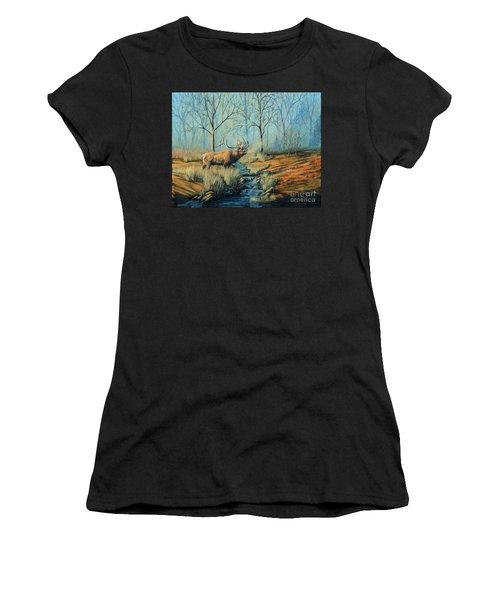 Misty Morning Bugler Women's T-Shirt (Athletic Fit)