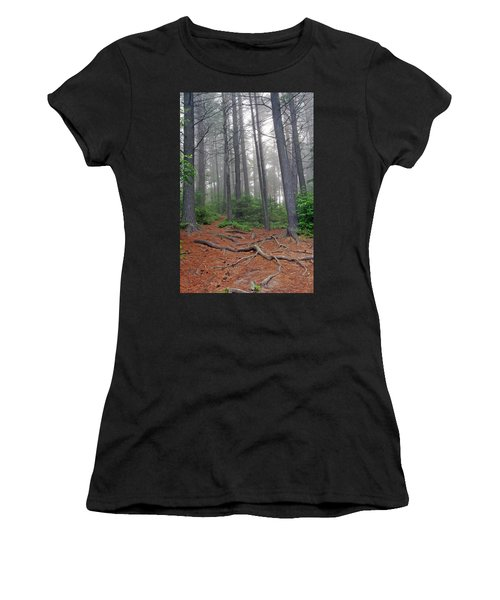 Misty Morning In An Algonquin Forest Women's T-Shirt (Athletic Fit)