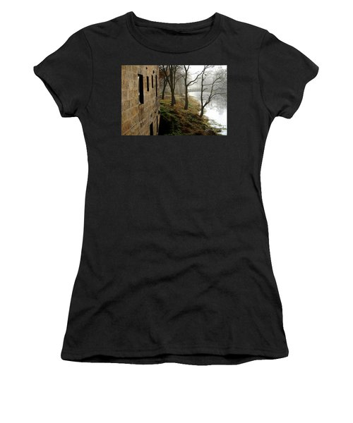 Misty Morning On The Illinois Michigan Canal  Women's T-Shirt (Athletic Fit)