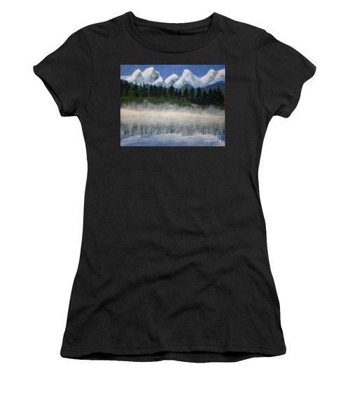 Misty Morning On The Mountain Women's T-Shirt (Athletic Fit)