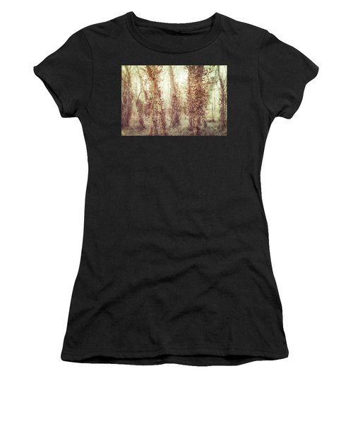 Misty Morning Winter Forest  Women's T-Shirt