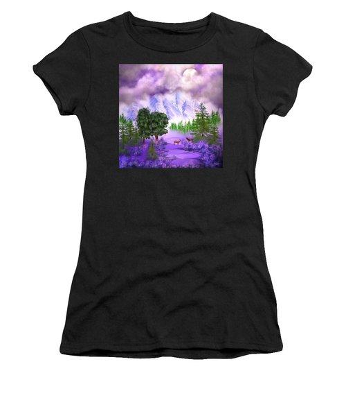 Misty Mountain Deer Women's T-Shirt