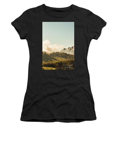 Misty Mountain Peaks Women's T-Shirt