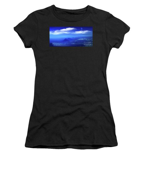 Misty Mountains Of San Salvador Panorama Women's T-Shirt (Athletic Fit)