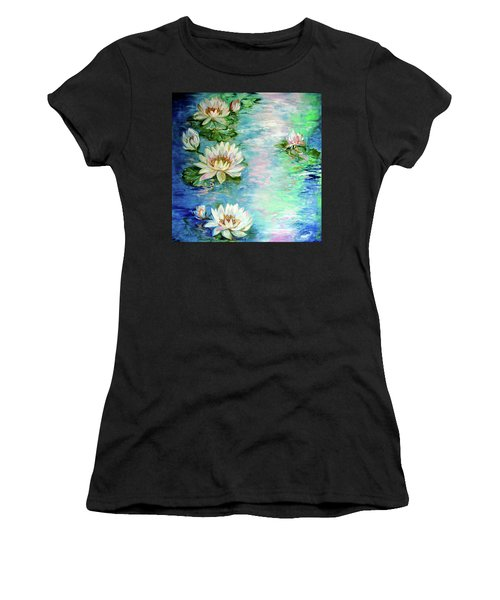 Misty Waters Waterlily Pond Women's T-Shirt